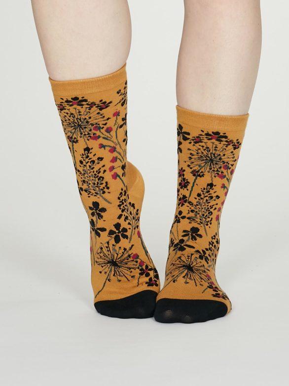 Thought dámské bavlněné ponožky amice žluté