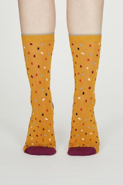 Thought dámské bambusové ponožky emme žluté