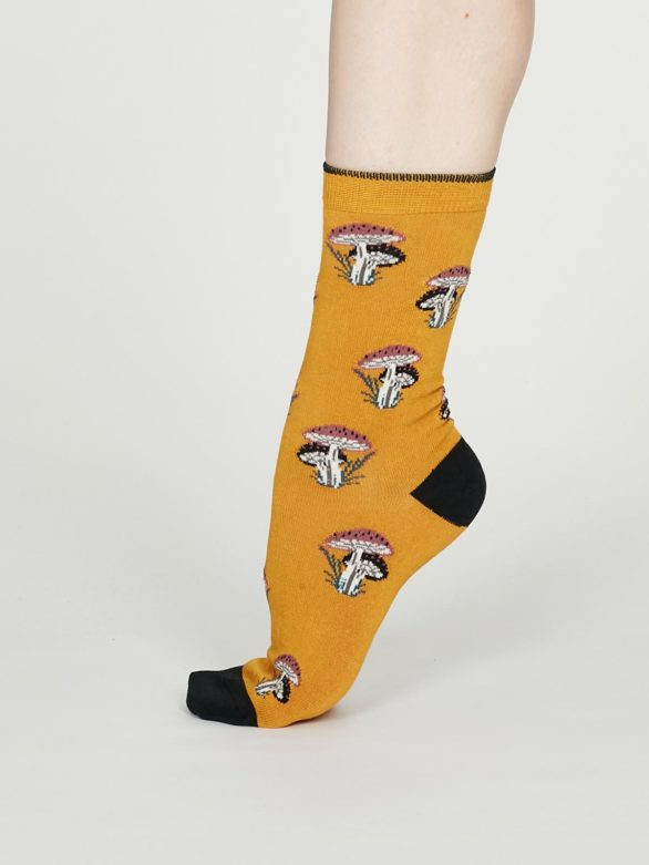 Thought dámské bambusové ponožky ibot žluté