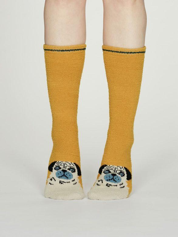 Thought dámské teplé ponožky rebecca žluté