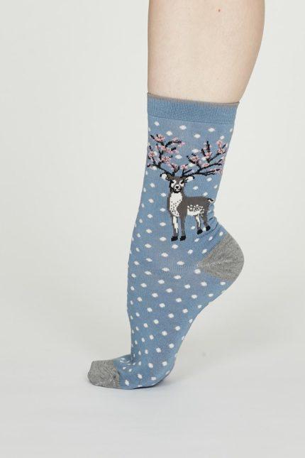 Thought bambusové ponožky elias modré
