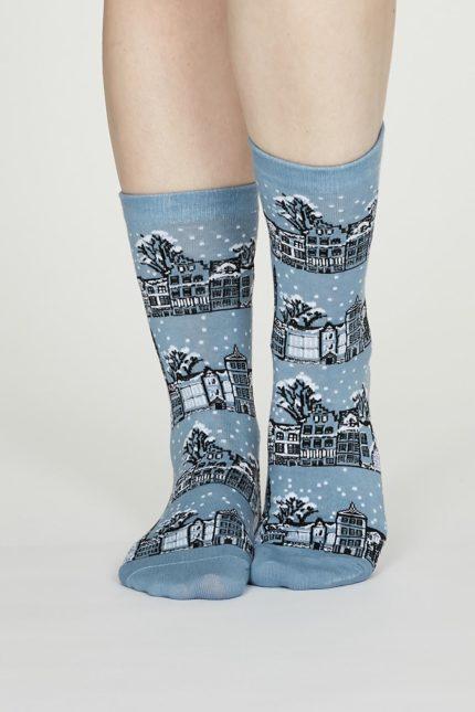 Thought dámské bavlněné ponožky godelena modré