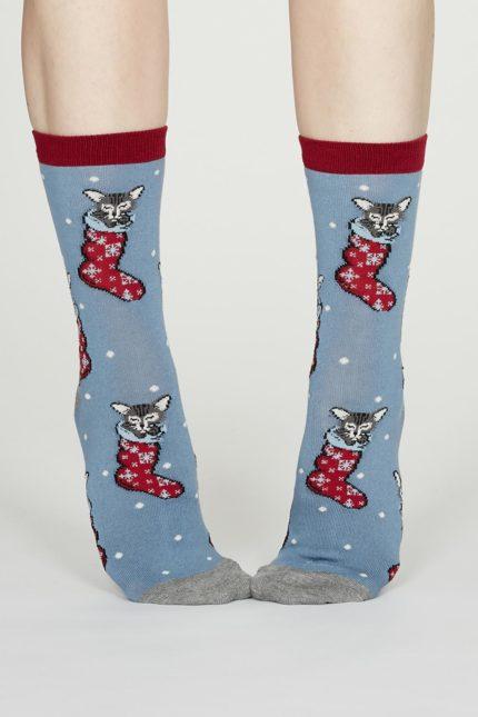 Thought dámské bambusové ponožky jena modré