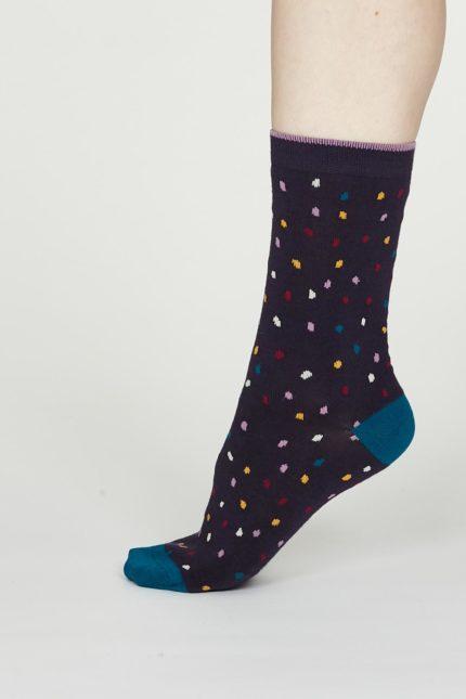 Thought dámské bambusové ponožky emme fialové