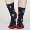 Thought dámské bambusové ponožky ibot fialové