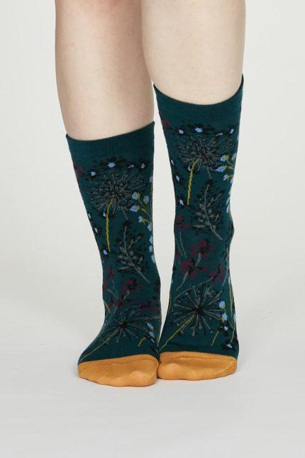 Thought dámské bavlněné ponožky amice zelené