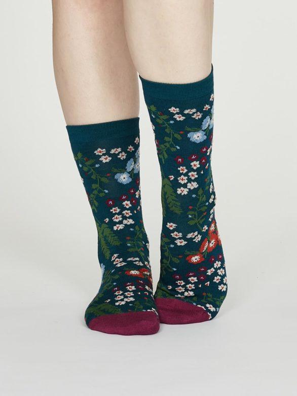 Thought dámské bambusové ponožky blossom zelené