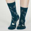 Thought dámské bambusové ponožky edith zelené