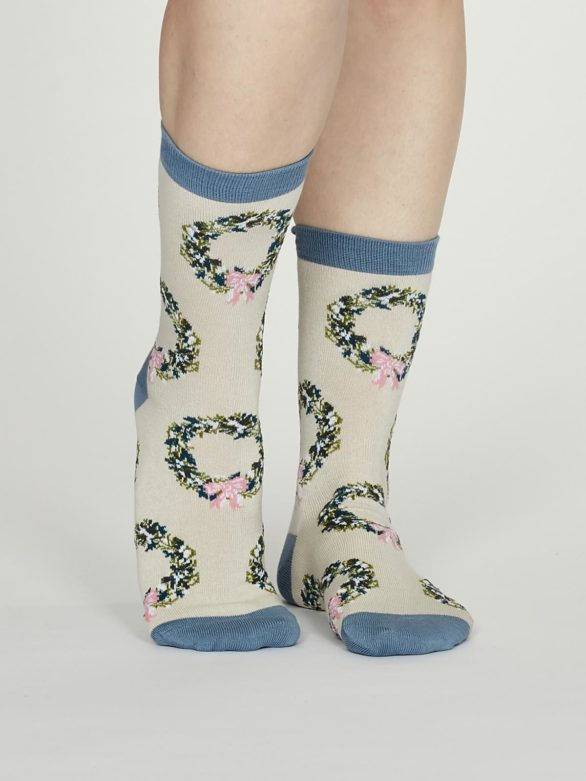 Thought dámské bambusové ponožky adella krémové
