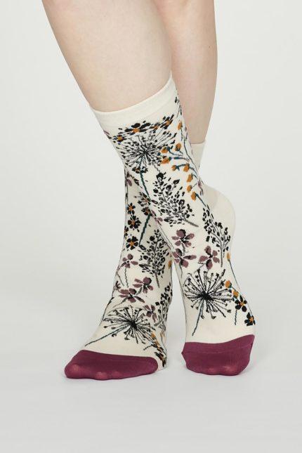 Thought dámské bavlněné ponožky amice krémové