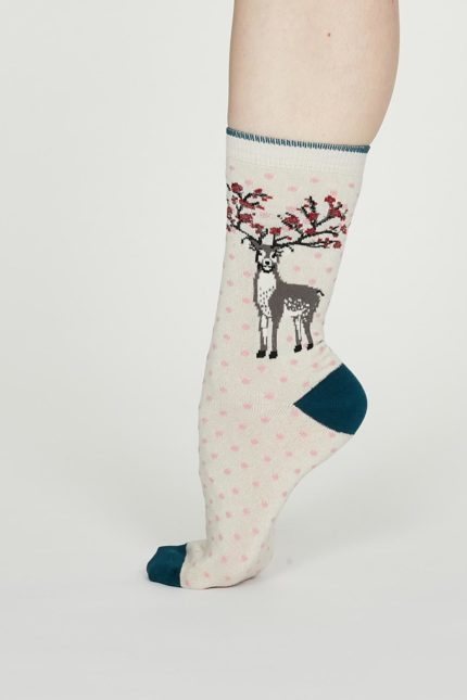 Thought bambusové ponožky elias krémové