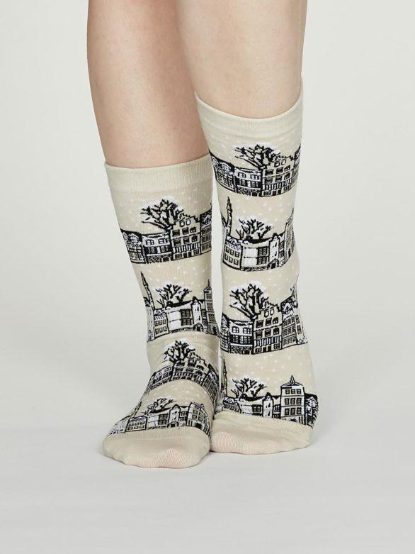 Thought dámské bavlněné ponožky godelena krémové