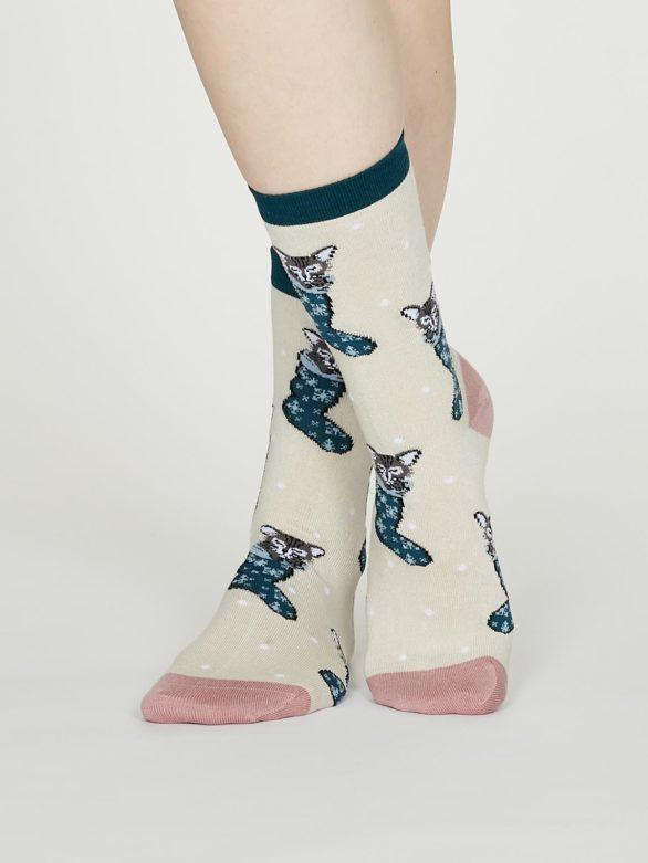 Thought dámské bambusové ponožky jena krémové