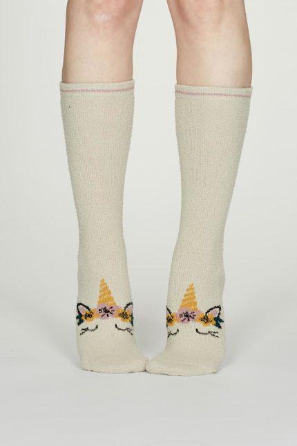 Thought dámské teplé ponožky rebecca krémové