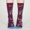Thought dámské bambusové ponožky blossom vínové