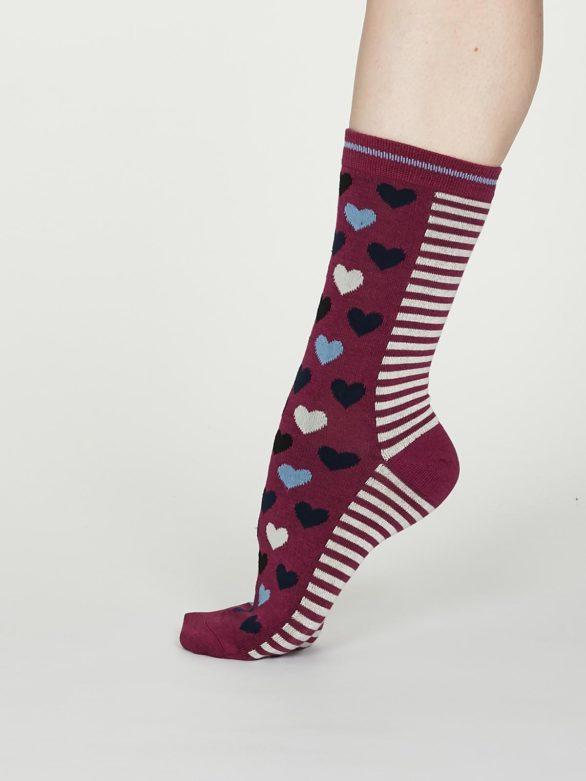 Thought dámské bambusové ponožky eileen vínové