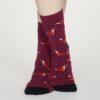Thought dámské bambusové ponožky foxy vínové