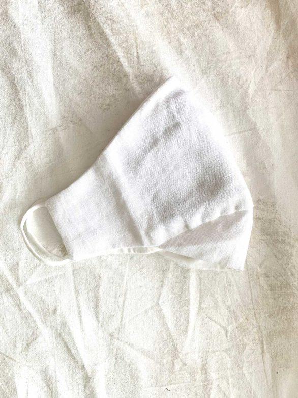Thought rouška white z konopí a bio bavlny