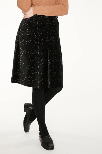 Thought sametová sukně selina z bio bavlny