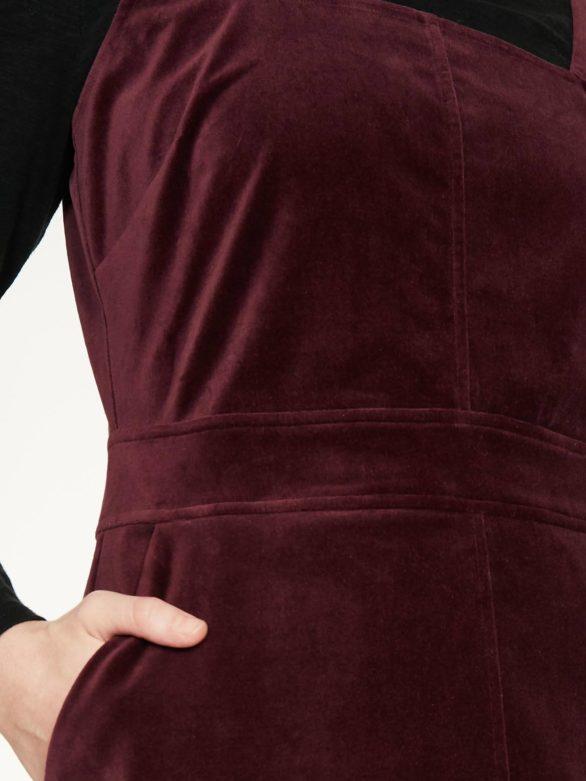 Thought sametové šaty joy z bio bavlny