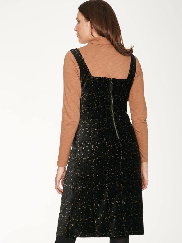 Thought sametové šaty z bio bavlny selina