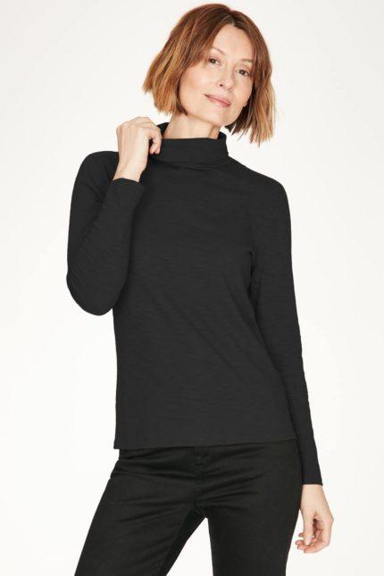 Thought rolákový top z bio bavlny claudia černý
