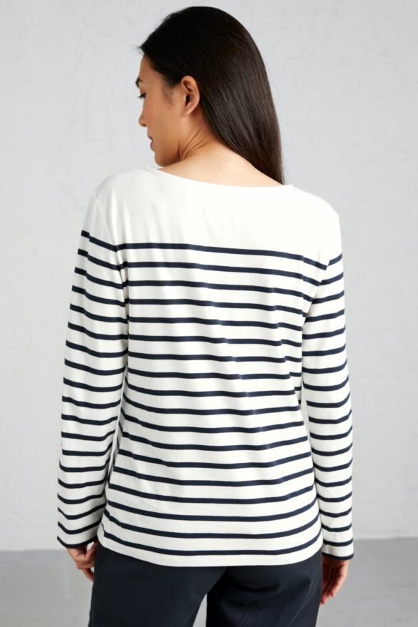 Seasalt Cornwall top sailor z bio bavlny falmouth breton chalk midnight
