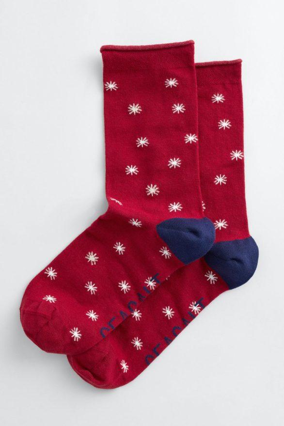 Seasalt Cornwall dámské ponožky folktale star dahlia