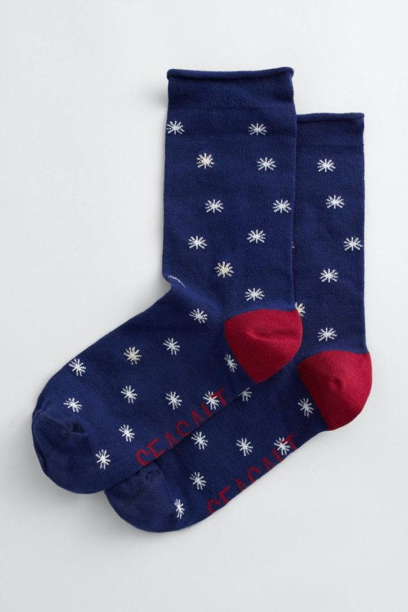 Seasalt Cornwall dámské ponožky folktale star blue