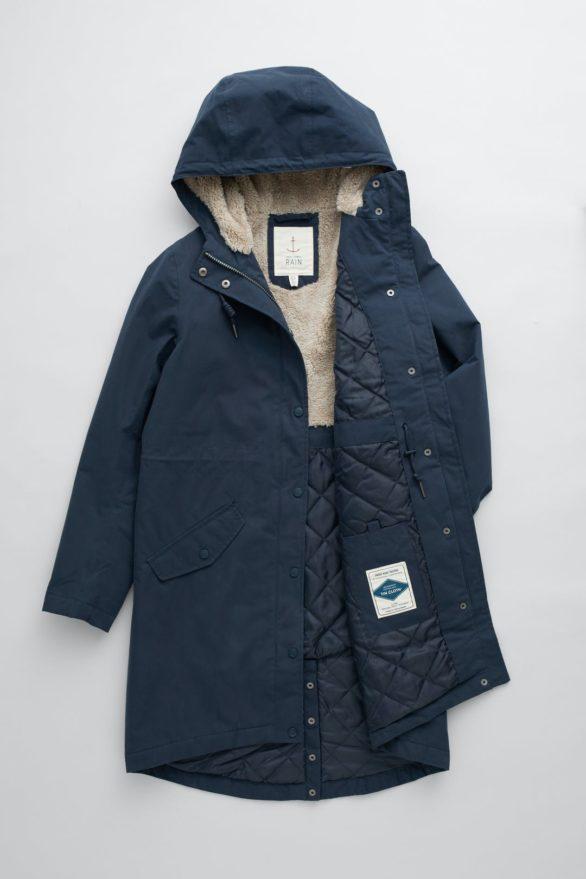 Seasalt Cornwall kabát plant hunter modrý