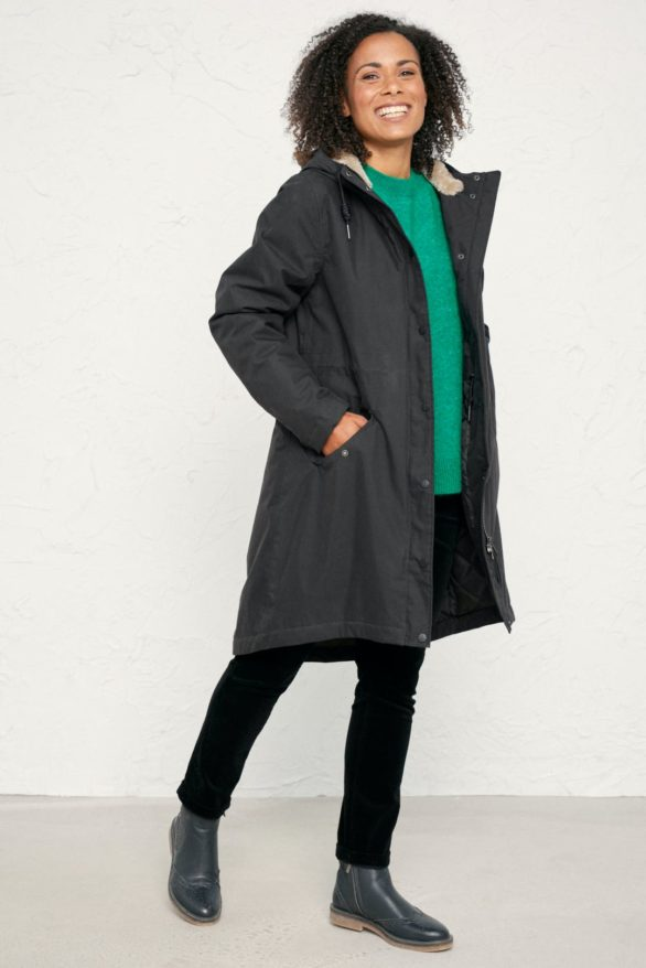 Seasalt Cornwall kabát plant hunter šedý