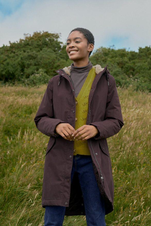 Seasalt Cornwall kabát plant hunter hnědý