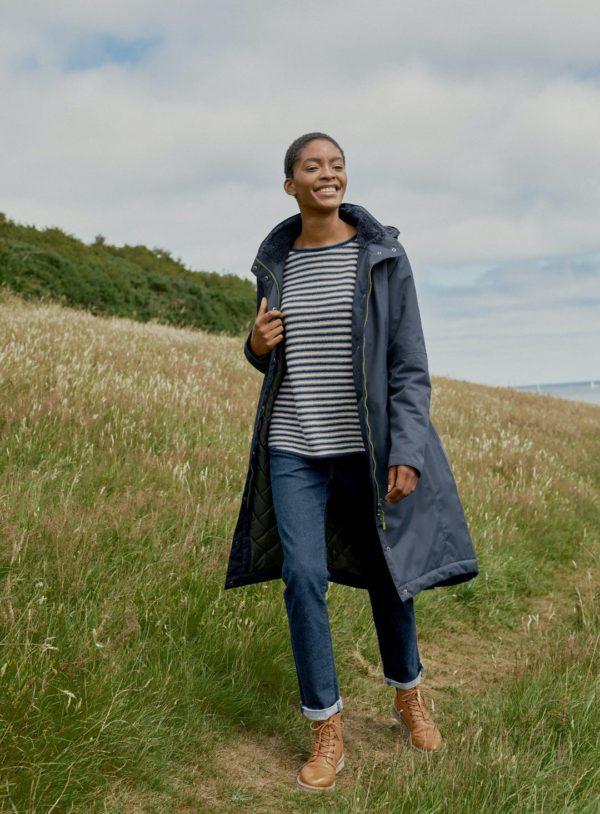 Seasalt Cornwall kabát janelle modrý