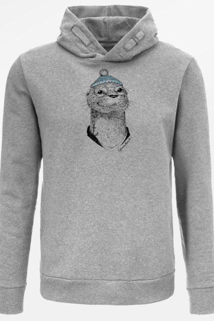 Greenbomb mikina animal otter šedá z bio bavlny