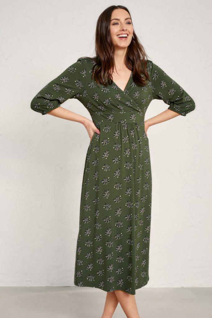 Seasalt Cornwall bambusové šaty dancer leaf hosta
