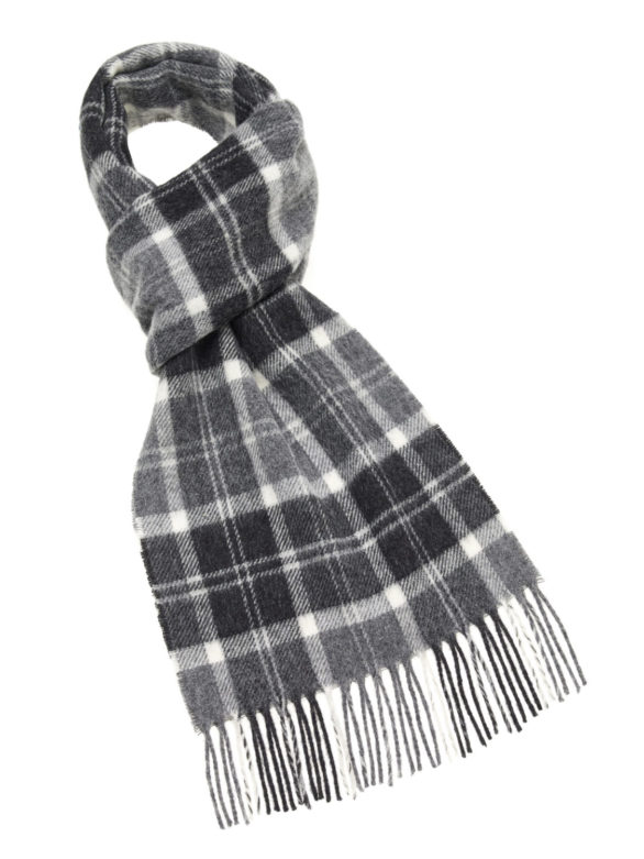 s a lambswool country scarf hereford charcoal e