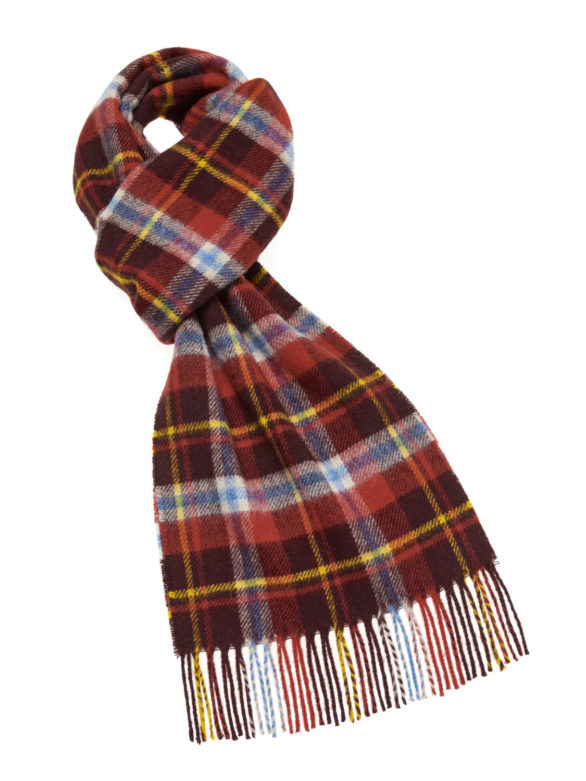 s ab lambswool country scarf durham red e