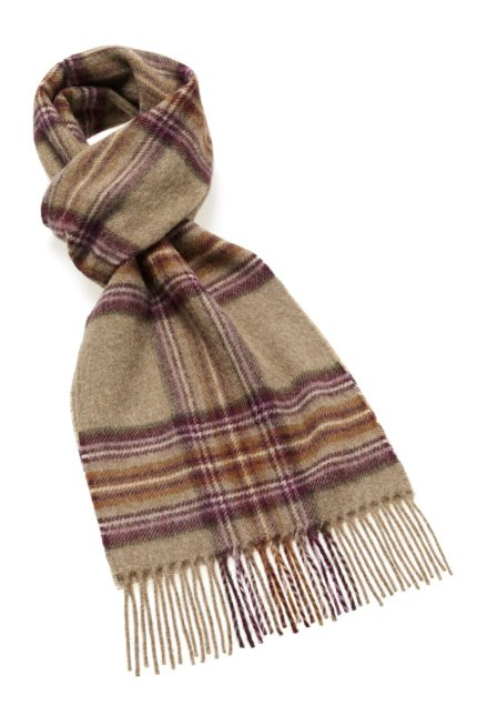s af lambswool dunwich heath scarf brownpurple heathland