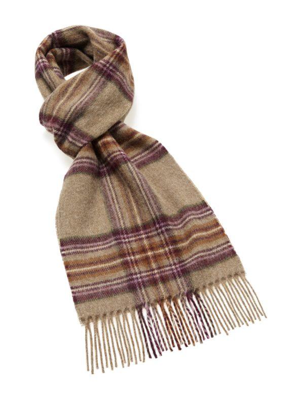 s af lambswool dunwich heath scarf brownpurple heathland