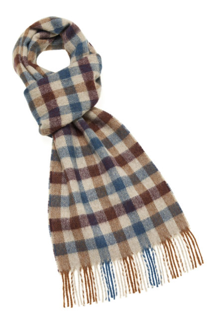 s d lambswool country scarf worcester rust e