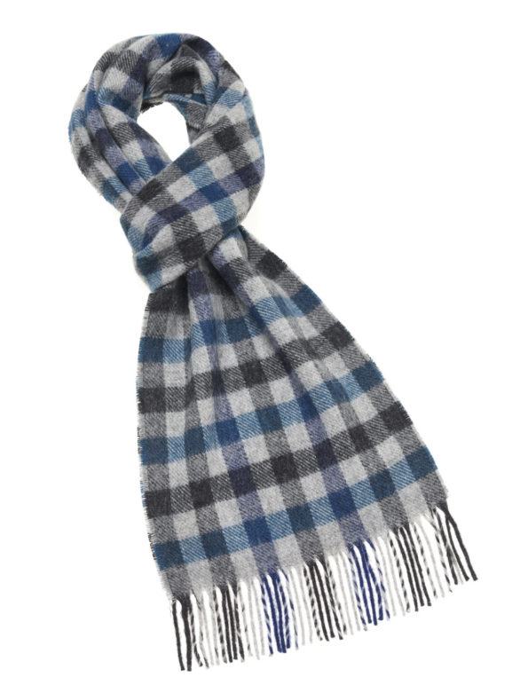 s e lambswool country scarf worcester blue e