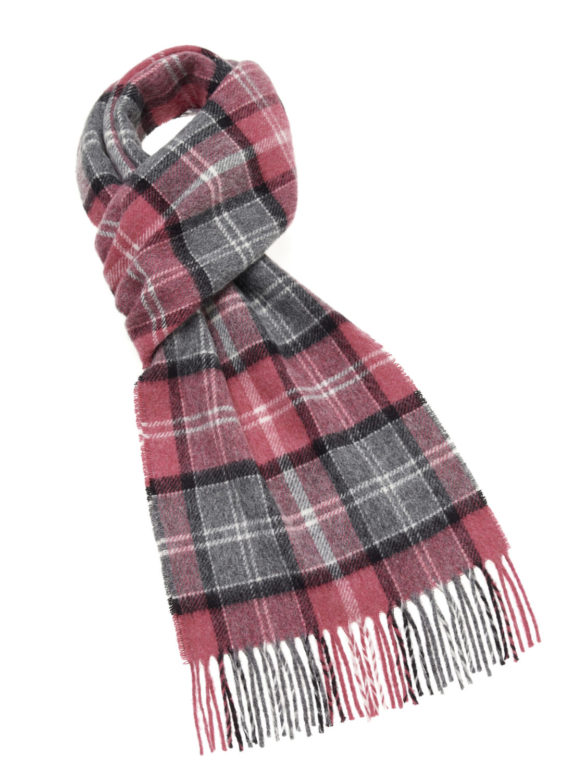 s u lambswool country scarf hereford pink e