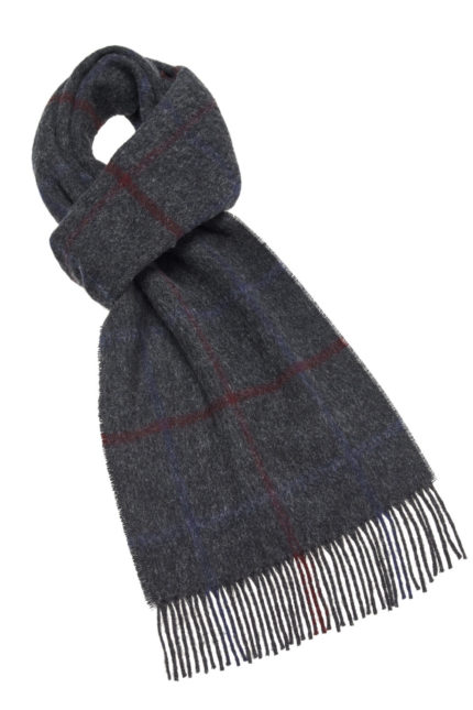 s x lambswool country scarf lincoln charcoal e