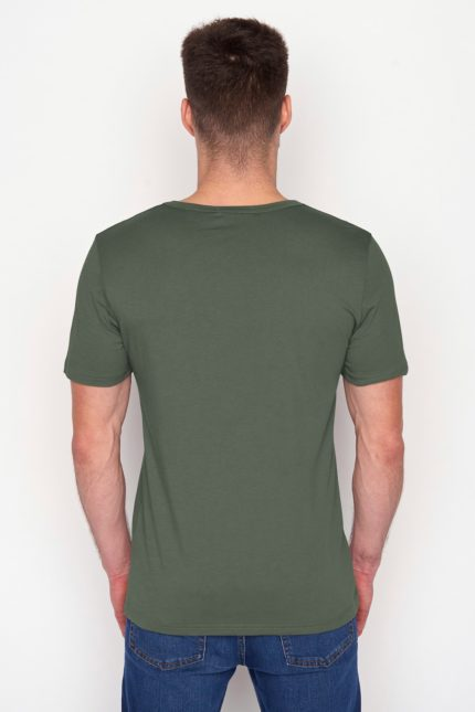 Greenbomb, Thought tričko bike läuft olive z bio bavlny