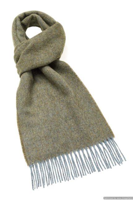 s n lambswool plain lovat scarf