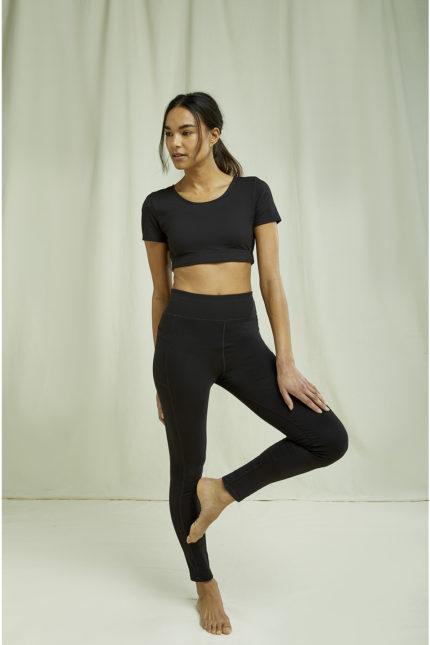 People Tree legíny yoga černé z bio bavlny