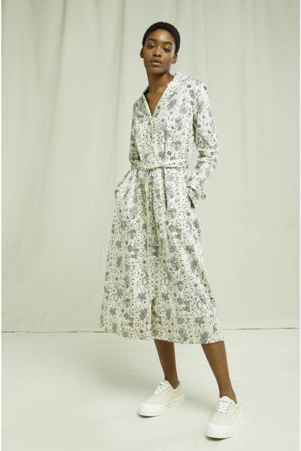 People Tree košilové šaty v&a anaya z bio bavlny