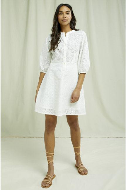 People Tree vyšívané šaty anita z bio bavlny
