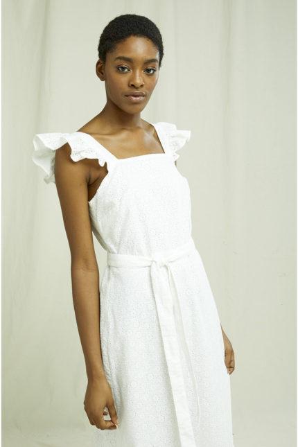 People Tree vyšívané šaty jaya z bio bavlny