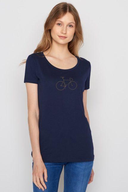 Greenbomb dámské tričko bike golden modré